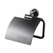 Tapwell TA236 Black chrome. Toalettpappershållare med lock
