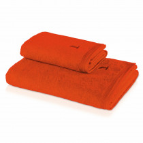 Frottéhandduk Möve Uni 30x50, LxB: 50X30 Red Orange